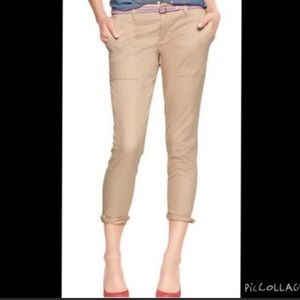 Gap skinny mini khaki pants